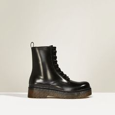 STUDIO LEATHER LACE-UP ANKLE BOOTS-NEW IN-WOMAN | ZARA United States