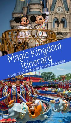 Excellent (MKM) Magic Kingdom Itinerary: Don't get overwhelmed by the options! Here are the must-do Magic Kingdom attractions to help you plan an entire park day. Plus, print a FREE Magic Kingdom park planner. Disney World Resorts, Disney World Parks, Disney Vacations, Disney Worlds, Disney Travel, Family Vacations, Map Of Disney World, Disney World Must Do, Disney World With Toddlers