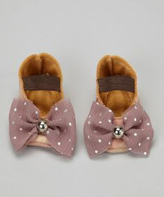 Take a look at this Tan & Mauve Simply Blushing Flat by Folly Parade on #zulily today!
