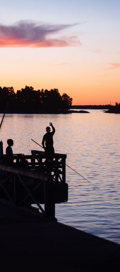Finnish bay. Meet sunset at #Espoo #Archipelago in #Finland  and find things to