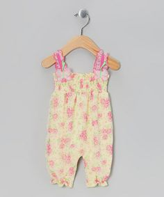 Take a look at this Yellow Floral Playsuit by Blow-Out on @zulily today!I love this site.Such GREAT deals!!!