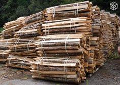 Piquet de clôture en bois de chataignier
