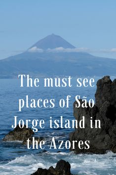 Sao Jorge, home to a sublime beauty and with so much yet to be discovered. The sleeping dragon island owns an enormous variety of fajas there are over Sense Of Place, My Heritage, Heaven On Earth, Islands, Travel Destinations, Places To Visit, Bucket, Dragon, Vacation