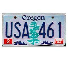 #16: Oregon license plate