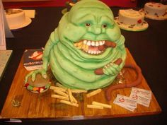 Can't forget a Slimer cake from Ghostbusters! Crazy Cakes, Fancy Cakes, Pink Cakes, Unique Cakes, Creative Cakes, Fondant Cakes, Cupcake Cakes, Shoe Cakes, Cupcake Art
