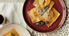 The sweet, earthy, vivid-orange filling is pure comfort. What Katie Ate, Recipe House, Pumpkin Ravioli, Dried Chillies, Ravioli Recipe, Roasting Tins, Pastry Brushes, Oven Roast, Brown Butter