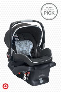 The Britax B-Safe Infant Car Seat is designed with style, convenience and safety in mind. It features industry-leading front, rear and side impact protection, tangle-free 5-point harness and Click & Go adaptor system to work with Britax B-Series strollers. No wonder it's a Mom's Registry Pick.