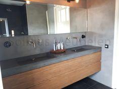 Hout En Beton : Beste afbeeldingen van badkamermeubel van hout en beton in