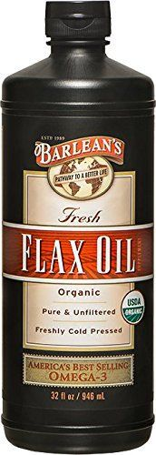 "Flaxseed oil is nature's richest source of vegetable-based vital Omega-3 fatty acids. Barlean's 100% Organic Flax Oil is known as the ""world's freshest"" because, just like all the fine family of Barlean's products, it is cold pressed daily, made to order for your health food store, air-delivered ... more details at http://supplements.occupationalhealthandsafetyprofessionals.com/herbal-supplements/flaxseed/product-review-for-barleans-organic-oils-fresh-flax-oil-32-"