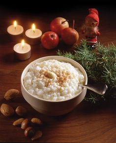 Tontun Riisipuuro Tonttu's Rice Porridge Finnish Christmas Finland Food, Denmark Food, Scandinavian Food, Scandinavian Christmas, Danish Christmas, Finnish Cuisine, Finnish Recipes, Rice Porridge, Danish Food