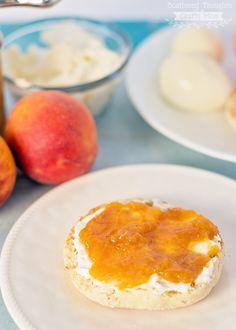 How to make peach jam. (low sugar peach jam)