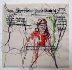 Embroidery Art Lauren Dicioccio 19 New Ideas Contemporary Embroidery, Modern Embroidery, Embroidery Art, Embroidery Patterns, Simple Embroidery, Vintage Embroidery, Machine Embroidery, Sculpture Textile, A Level Textiles