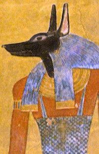 Anubis, a guardian of the dead, in the tomb of Twosret and Setnakhte KV14