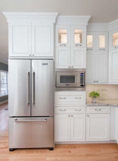 Интегрировать микроволновку в кухонный шкаф
