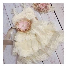 How will I ever choose which one elyse should have for photos next year?!?  Girls Ruffle DressFlower Girl DressIvory by AvryCoutureCreations