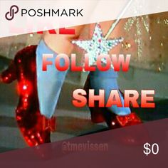 """Like, follow and share👠👠👠👠👠👠 👠👠👠thank you so much for following my closet. I'm nearing my next Posh milestone of 10k. What a journey it's been. As my husband puts it my """"hobby""""👠👠👠💜💜💜LIKE, FOLLOW AND SHARE💜💜💜👠👠👠 Other"""