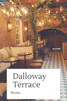 A review of London restaurant Dalloway Terrace. Central London restaurant Dalloway Terrace, Londons most instagrammable restaurant