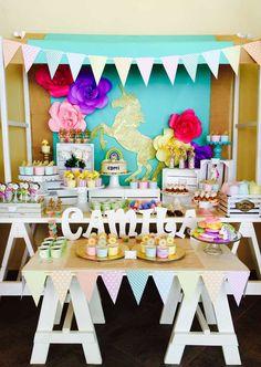 Unicorns, rainbow And Fun  Birthday Party Ideas   Photo 6 of 29