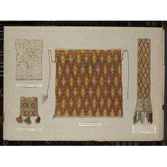Brickstitch German bag (14th cent)  Serveral brickstitch bags in the pic  Linen…