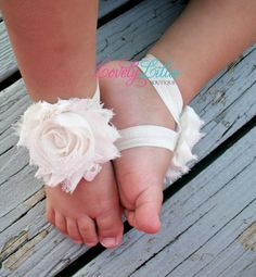 Baby Barefoot Sandals by LovelyLiliesBoutique on Etsy, $6.50