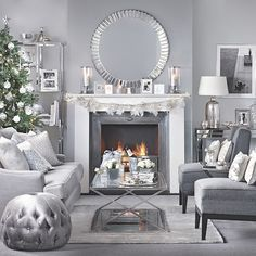 can you mix blue and gold and silver in a living room - Google Search