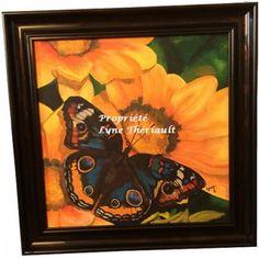 PEINTURE_INSECTES Papillon sur gazénia_Acrylique