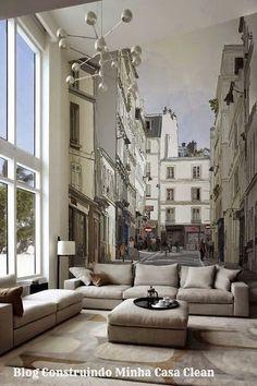 26 Paredes Decoradas com Plotagem!!! Adesivos e Painéis Lindos! Interior Exterior, Interior Architecture, Luxury Interior, Casa Clean, Deco Design, Design Design, Cool Walls, Home Fashion, My Dream Home