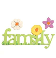 "New ""Family"" magnet from Embellish Your Story. Comes with two extra flower magnets as seen here."