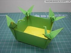 WHAT'S MINE IS OUR: Tsurus Origami Box (Cranes Box)