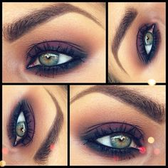 smoky purple for green eyes