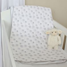 Snowflake Quilted Cotton Blanket/Playmat. Available online at www.babesandkids.co.za Snowflake Quilt, Snowflakes, Tummy Time, Cotton Blankets, Mattress, Toddler Bed, Baby, Furniture, Home Decor