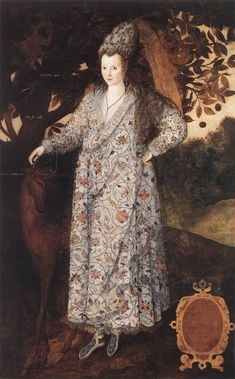 "Mystery portrait of an auburn-haired pregnant woman, hanging at Hampton Court (Gheeraerts, c.1570s). Previously identified as Queen Elizabeth I, now labeled ""Portrait of a Woman"". Portrait once thought to be of a pregnant Elizabeth I. Any other conspiracy theorists out there who think that Essex may actually have been Elizabeth's and Robert Dudley's natural son?"