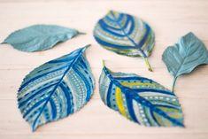 pintar hojas de estilo tribal