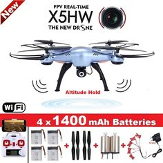 SYMA X5HW Quadrocopter Drone met Camera Wifi FPV HD Real-time 2.4G 4CH RC Helicopter Quadcopter RC Dron speelgoed (X5SW Upgrade)