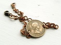 Copper Coin Bracelet // Canadian Penny Bracelet by Studio70Seven, $30.00