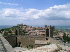 Vista da região da Muralha da Fortaleza de Montalcino - Italia