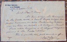 Carta membrete El Abad Parroco de la Colegiata de Jativa, Xativa, Frco. Ibañez A Frco. Bosca,