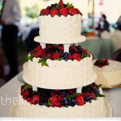Love the berries and the cake.