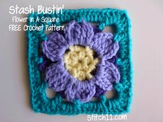 Stash Busting Flower in a Square.