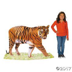 Safari+Tiger+Cardboard+Stand-Up+-+OrientalTrading.com