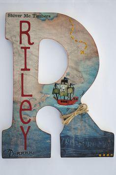 Custom Wooden Wall Letters  Hanging Letters  Nursery by mybabybee, $28.00