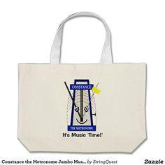 Constance the Metronome Jumbo Music Tote Jumbo Tote Bag