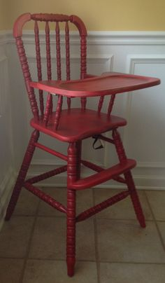 antique high chair possibly antique teal Baby Crafts