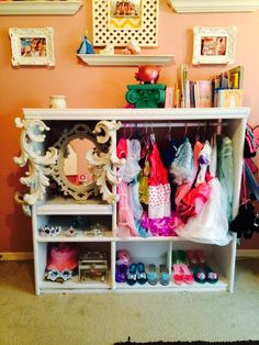Old Tv Stand Into Dress Up Closet.