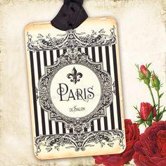 4d90e5d00 Fleur de Lis Paris French Vintage Style Gift Tags by mulberrymuse