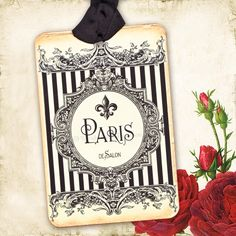 vintage french fashion photos | Fleur de Lis Paris French Vintage Style Gift Tags by mulberrymuse
