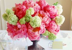 My favorite flower: peonies! Now if only I could get fake ones that's looked this real for my kitchen:)