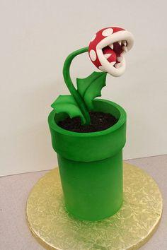 Super Mario.  Piranha Plant.  Mike's Amazing Cakes