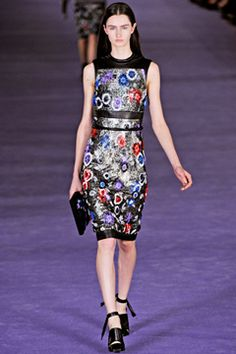 Floral dress - Christopher Kane Fall 2012 RTW