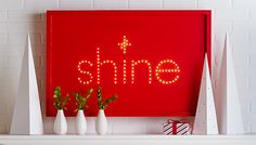 Brighten up any room with this DIY lighted holiday sign.